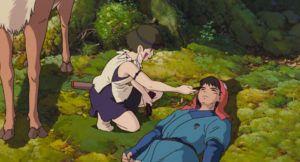 スタジオジブリの作品静止画『もののけ姫』より