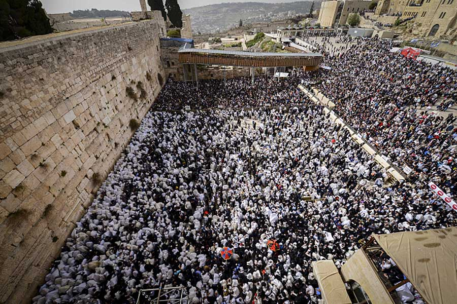 Puncak Perayaan Paskah di Yerusalem: 80.000 Orang Berkumpul untuk Menerima Berkat Imam