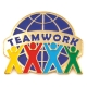 213 2061 1 - Teamwork Pin (Color)
