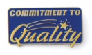 213 3461 1 - Commitment to Quality (Blue) Pin