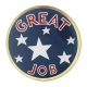 213 491 1 - Great Job Pin (Blue)