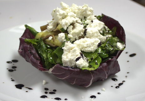S. Warm Baby Spinach Salad