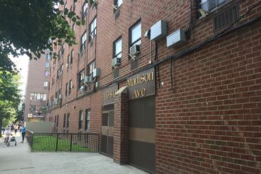 The nonprofit claims in a suit the owner skirted anagreement by addingunauthorized requirements to purchase the building at 1680 Madison Avenue.