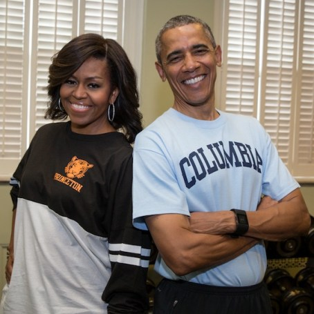 President Barack Obama and First Lady Michelle Obama on College Signing Day, 2015. (Official White House Photo by Pete Souza)