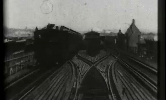 104th Street S Curve, Elevated Railway, Harlem, 1899 (video)