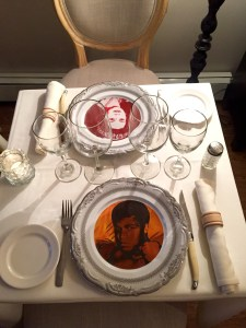 "Custom printed plates allow one to ""dine with celebrities"""