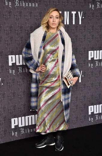 Alana Hadid attends the FENTY PUMA by Rihanna AW16