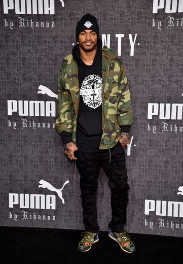 Football player Jaelen Strong attends the FENTY PUMA by Rihanna AW16