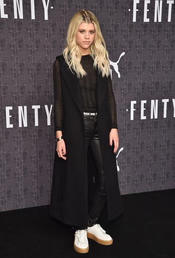 Sofia Richie attends the FENTY PUMA by Rihanna AW16