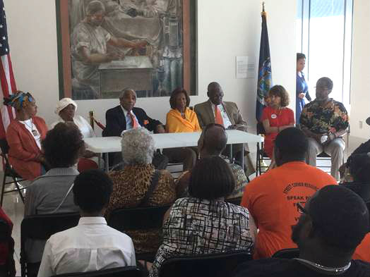 rangel wear orange in harlem