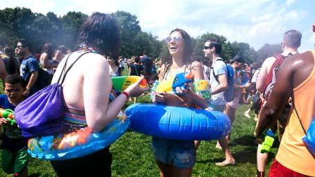 waterfight 2016 in central park