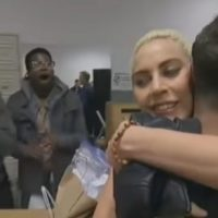 Lady Gaga Visits LGBT Homeless Shelter In Harlem
