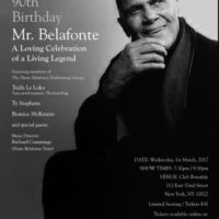 Harlem Says, Happy Birthday Harry Belafonte