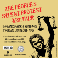 Silent Protest Art Walk Curated By Dream Hampton, Jamal Joseph, Emory Douglas And More