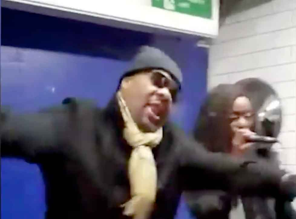 He's from Harlem she's from Harlesden – Fatman Scoop joins Harlesden busker