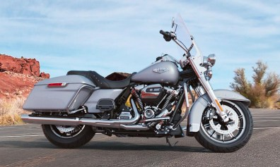 Motocykel Harley-Davidson touring Road King farba Barracuda Silver