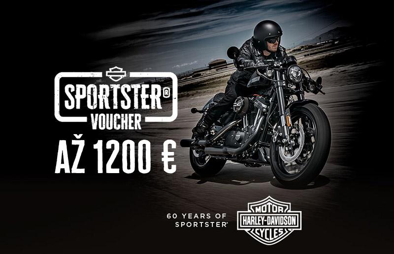 Voucher akcia na motorky Harley-Davidson Sportster 2017