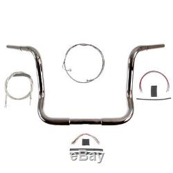 1 1/4 Chrome 14 Ape Hanger Bar Kit 2008-2013 Harley