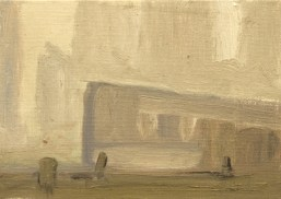 Study for The Meeting 12.7 x 17.5 cm Oil on Board 2014