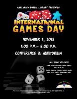 International Games Day @ Harlingen Public Library - Auditorium