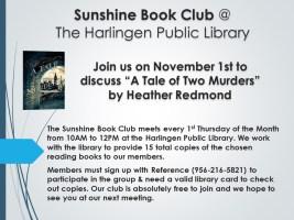 Sunshine Book Club @ Harlingen Public Library - Nonfiction Quiet Room
