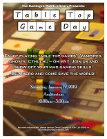 Table Top Game Day @ Harlingen Public Library - Auditorium