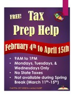 AARP Tax Preparation @ Harlingen Public Library - Auditorium