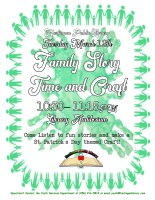 Family Story Time & St. Patrick's Day Crafts @ Harlingen Public Library - Library Auditorium