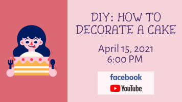 DIY: How to decorate a cake (Facebook & YouTube) @ Harlingen Public Library - Auditorium