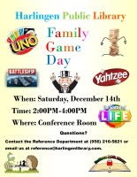 Family Games @ Harlingen Public Library - Auditorium