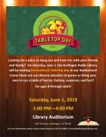 International TableTop Day @ Harlingen Public Library - Auditorium