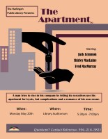 Classic Movie Cinema - The Apartment @ Harlingen Public Library - Auditorium