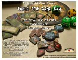 Tabletop Day @ Harlingen Public Library - Conference