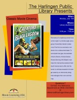 Classic Movie Cinema - Creature from the Black Lagoon @ Harlingen Public Library - Auditorium