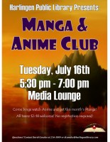 Manga & Anime Club @ Harlingen Public Library- Idea Lab
