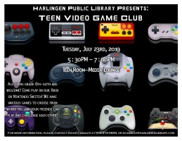 Teen Video Game Club @ Harlingen Public Library- Teen Room