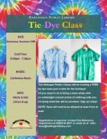 D.I.Y. Tie Dye T-Shirt Class @ Harlingen Public Library - Conference Room