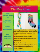 D.I.Y. Tie Dye (Sock or Scarf) @ Harlingen Public Library - Conference Room