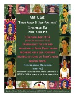 Art Class- Frida Kahlo & Self-Portraits @ Harlingen Public Library-Conference Room