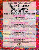 Early Literacy Wednesday @ Harlingen Public Library- Children's Auditorium