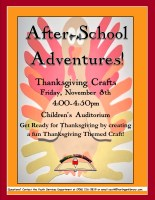 After-School Adventures: Thanksgiving Crafts @ Harlingen Public Library- Children's Auditorium