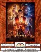 Movie Night: Aladdin @ Harlingen Public Library- Library Auditorium