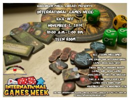 International Games Week Kick-Off @ Harlingen Public Library- Teen Room