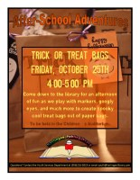 "After-School Adventures ""Trick or Treat Bags"" @ Harlingen Public Library Children's Auditorium"
