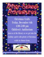 Christmas Crafts After-School Adventures @ Harlingen Public Library Children's Auditorium