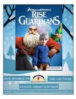 Rise of the Guardians Movie Night @ Harlingen Public Library Auditorium