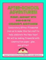 After-School Adventures: Celebration Glitter Fireworks @ Harlingen Public Library Children's Auditorium