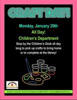 Craft Day @ Harlingen Public Library Children's Department