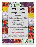 Art Class: Georgia O'Keeffe @ Harlingen Public Library Conference Room