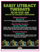 Early Literacy Tuesdays @ Harlingen Public Library Children's Auditorium